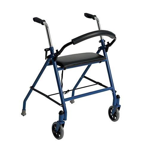 andador de dos ruedas con asiento de accionamiento medico 12