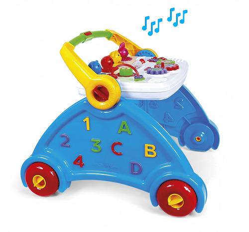 andador educativo bebê 1 ano c/ sons de animais poliplac