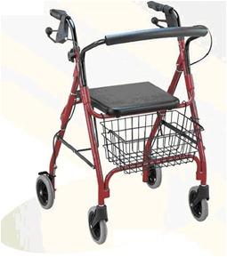 andador importado con frenos de mano y asiento +canastilla