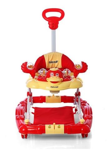 andador mecedor con manija bandeja musical altura regulable