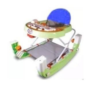 andador musical e balanço 2 em 1 azul/verde/rosa