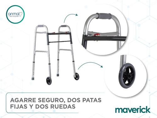 andador ortopédico con ruedas aluminio plegable paso a paso
