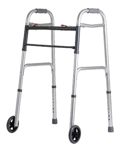 andador ortopédico con ruedas aluminio plegable ultraliviano