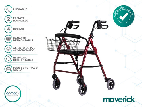 andador ortopédico plegable c/ruedas asiento envío gratis