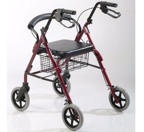 andador ortopedico plegable c/ruedas frenos asiento canasto