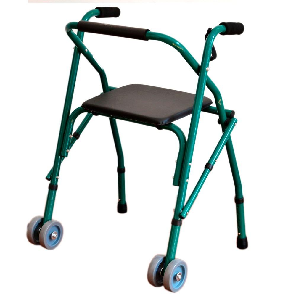 Andador Ortopedico Plegable En Aluminio Con Asiento Y Ruedas ...