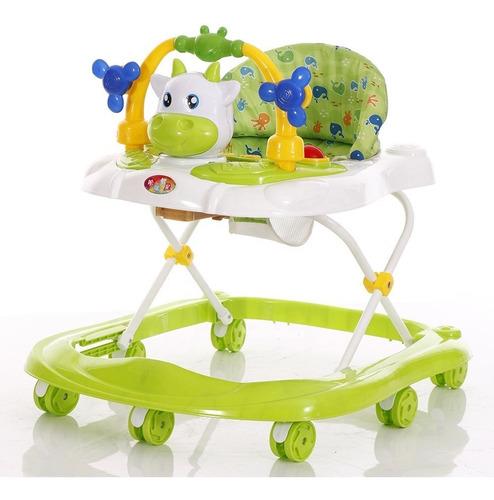 andador para bebe vaquita verde con música