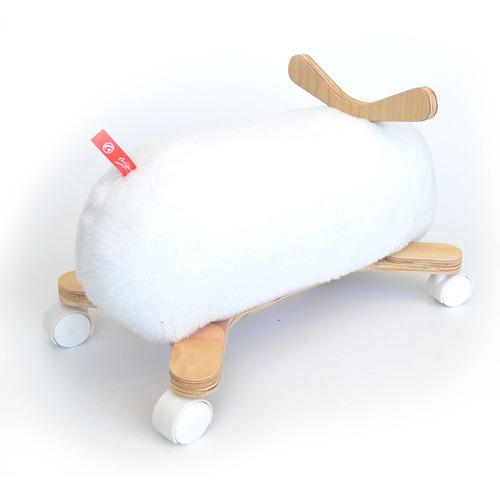 andador pata pata bebe motricidad madera ovejita blanca