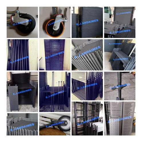 andaimes, piso metálico, rodízios equipamentos em geral