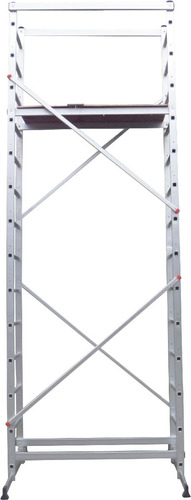 andamio de aluminio 14 escalones altura 5,1m panther pas014