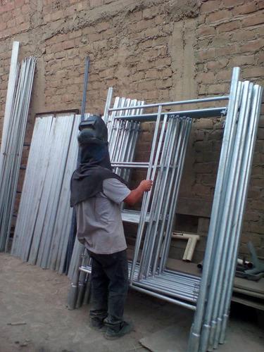 andamio galvanizado, acrow, andamio para construcción.