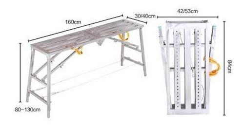 andamio portatil plegable escalera seguro aguanta 200kg