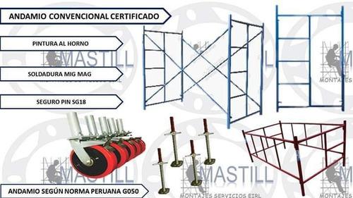 andamios certificados convencionales. 930516562