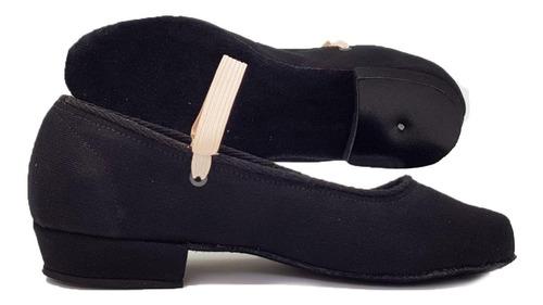 andanzza zapato de carácter de lona tacón bajo bejar dance