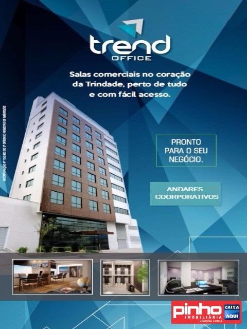 andar coorporativo comercial para venda, bairro itacorubi, florianópolis, sc - sa00038