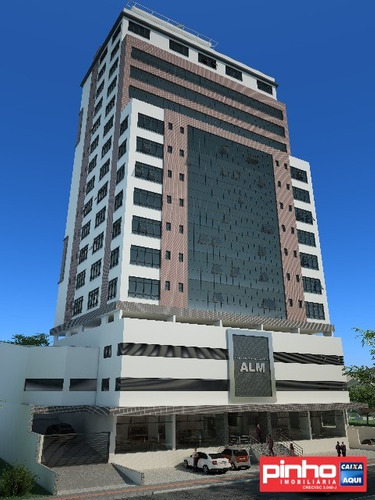 andar corporativo (11 salas comerciais) no centro empresarial alm, bairro pagani, palhoça, sc - sa00032