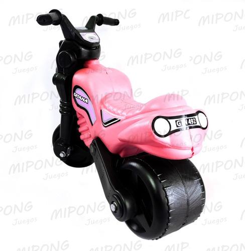andarin moto gitana ruedas patonas con dirección pvc