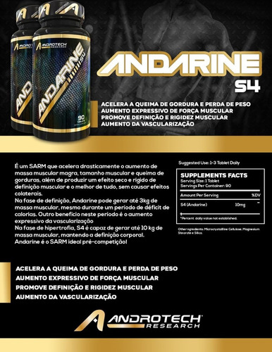 andarine s4 - androtech research - sarms - 25mg - importado