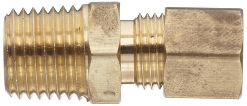 anderson metales brass tubo de empalme, conectores, 1/2  com
