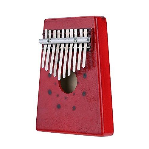 andoer 10 teclas abedul dedo pulgar piano mbira