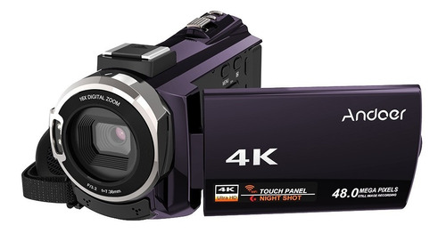 andoer 4k 1080p 48mp wifi cmara de video digital grabadora