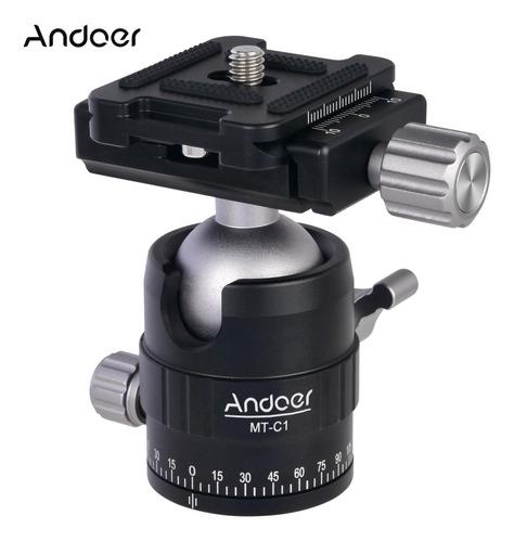 andoer mt-c1 compacto tamanho panorâmico tripé bola cabeça a