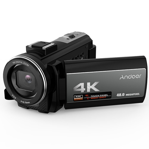 andoer portátil 4k 48mp wifi digital vídeo cámara de la v