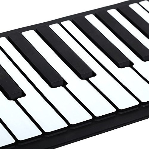 andoer portatil 88 teclas de silicona flexible roll up piano