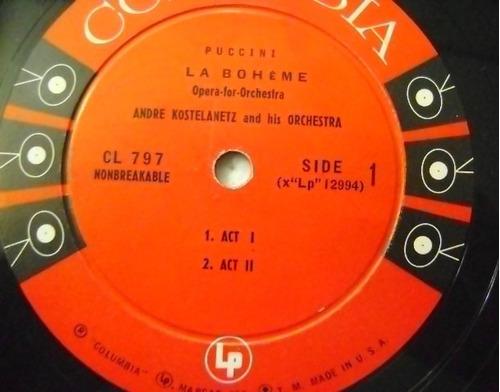 andre kostelanetz / la boheme  1 disco lp vinilo