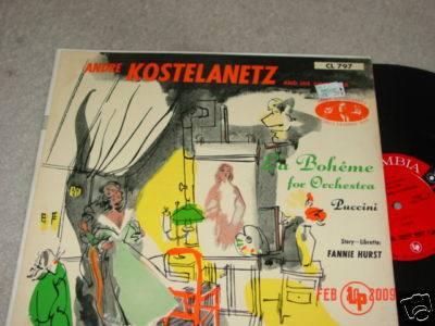 andre kostelanetz - lp la boheme for orchestra - puccini