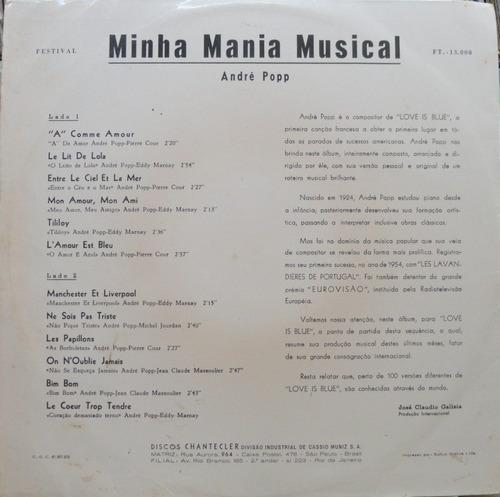 andré popp minha mania musical lp 1968 alta fidelidade