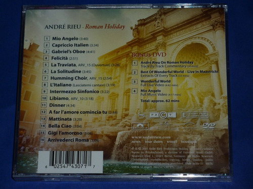 andre rieu roman holiday cd+dvd made in eu