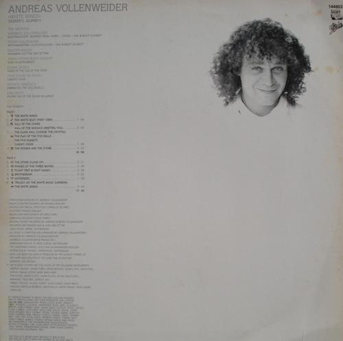 andreas vollenweider lp white winds - 1984
