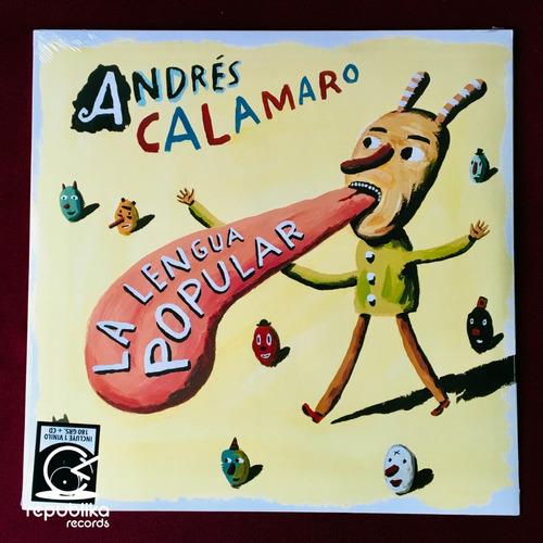 andrés calamaro - la lengua popular - lp nuevo + cd ed. eu
