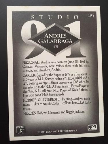 andrés galarraga leaf studio fecha 1991 # 197