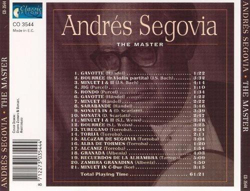 andres segovia the master, cd original