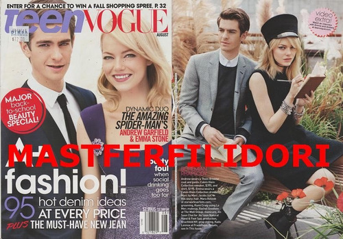 andrew garfield emma stone teen vogue usa agosto 201
