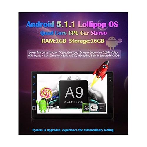 android 5.1 stereo 2 din car unidad 7 pulgadas de pantalla t