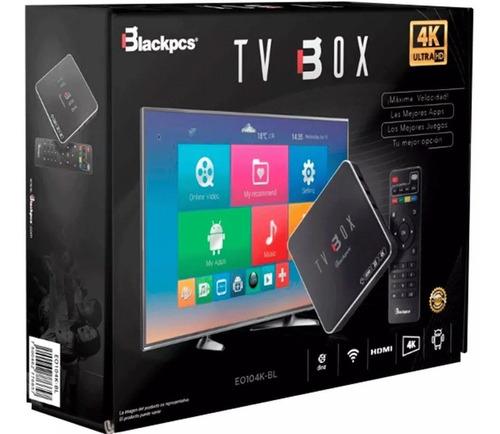 android tv box blackpcs eo104k-bl 7.1 hdmi wifi con control