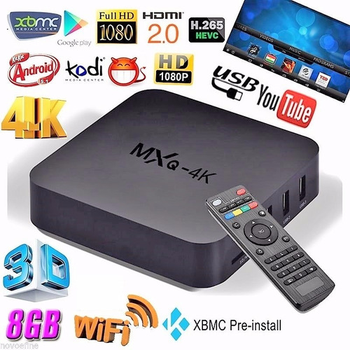 android tv box mxq pro 4k ultra hd netflix youtube smart tv