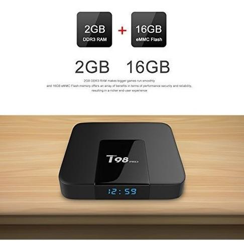 android tv box t98 4k 16gb 2gb ram