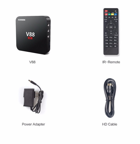 android tv box v88 android 6.0 4k ¡envio gratis!