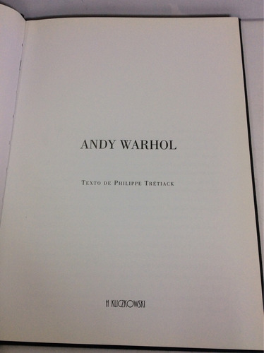 andy warhol, texto de philippe trétiack