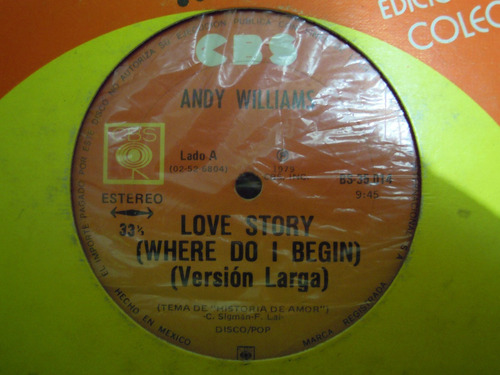 andy williams lp single love story