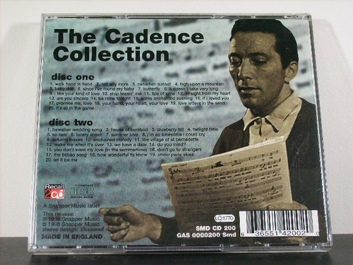 andy williams the cadence collection cd duplo orig imp av8