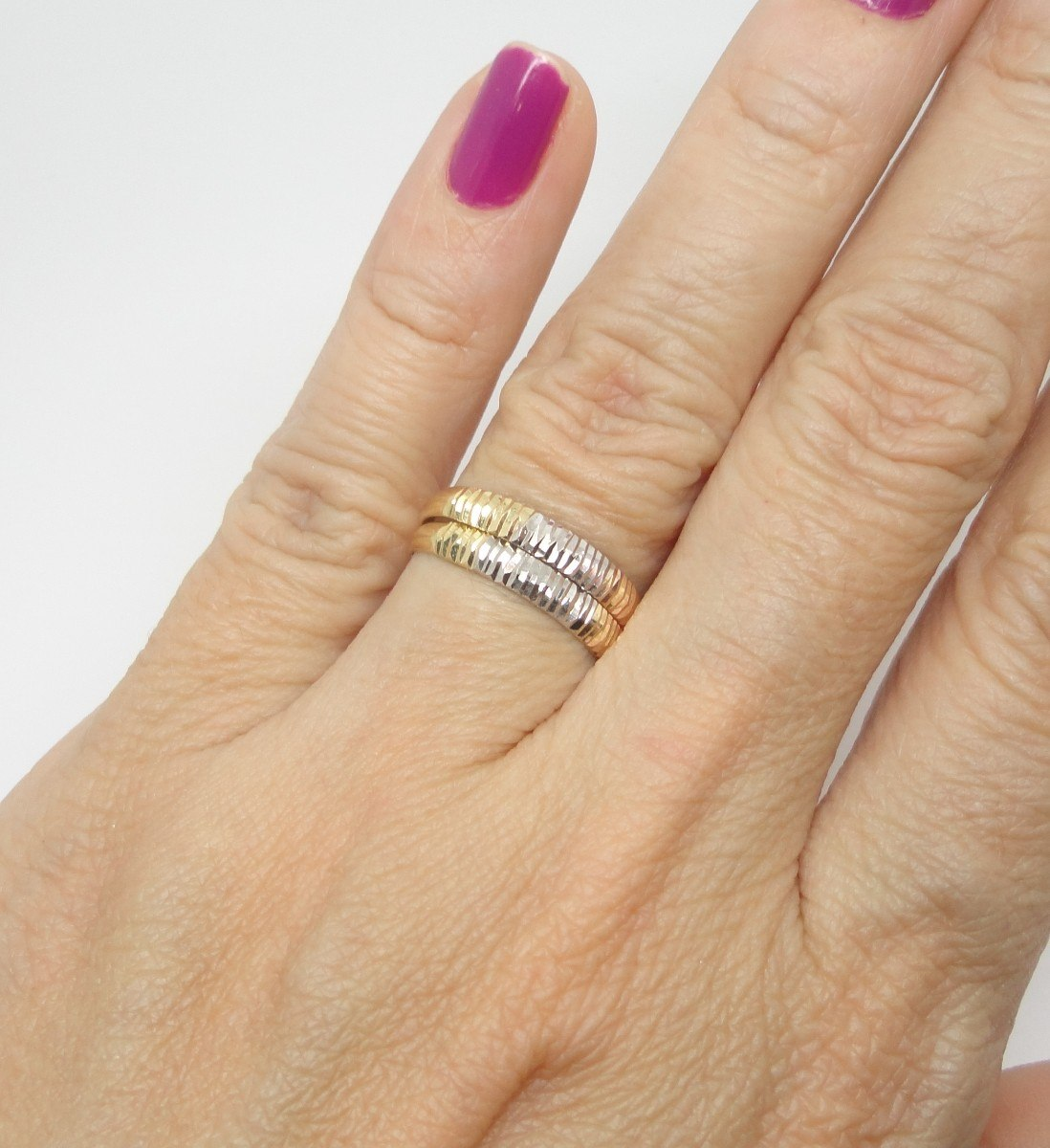 Aparador De Alinca Vivara ~ Anéis Aparadores Aliança Ouro 18k Aro 17 R$ 500,00 em Mercado Livre
