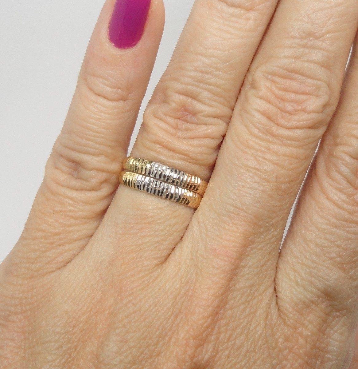 Armario Para Banheiro De Vidro ~ Anéis Aparadores Aliança Ouro 18k Aro 17 R$ 500,00 em Mercado Livre
