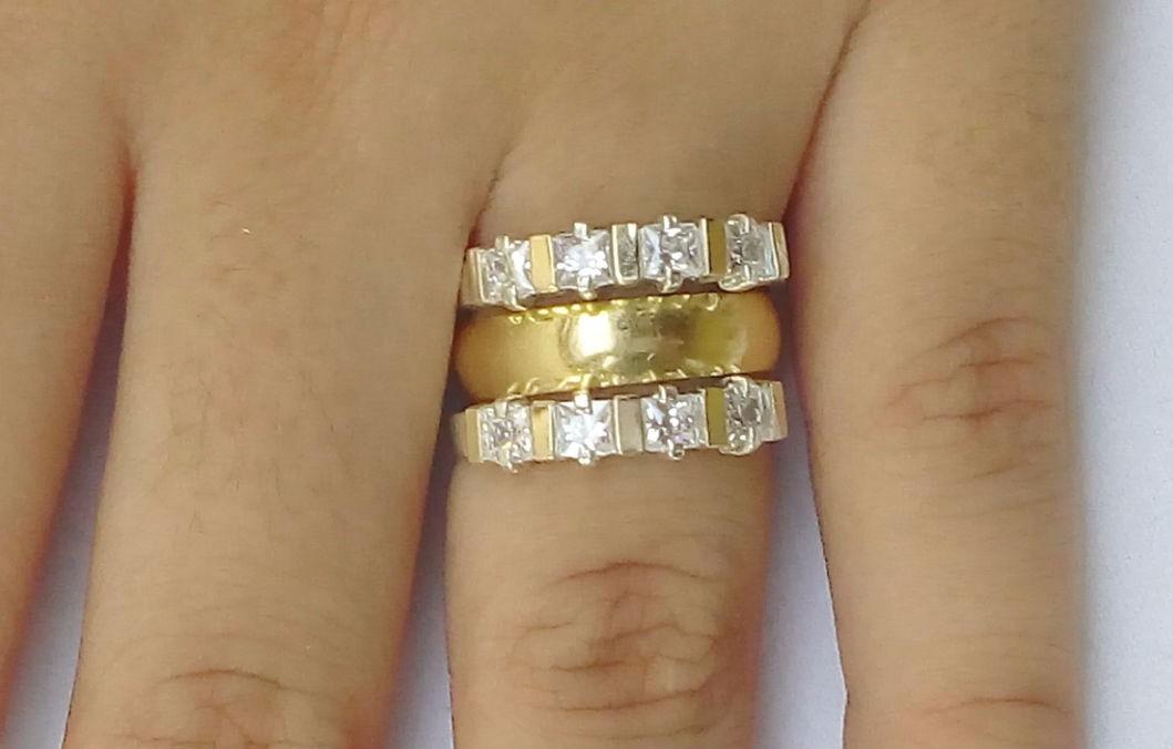 Aparadores Zapatos ~ Anéis Aparadores Aliança Prata 950 Maciça Ouro Zirc u00f4nias R$ 159,00 em Mercado Livre