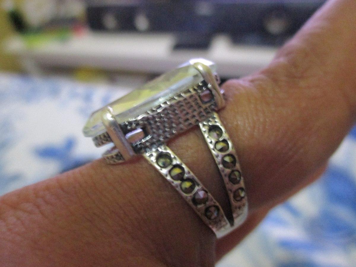 Anéis Em Prata 925 Com Pedrarias Promoção!!! - R  130,00 em Mercado ... 9f49ab0907