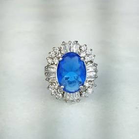 21888c8dc96c7 Anel Safira Azul Ouro Branco - Joias e Relógios no Mercado Livre Brasil